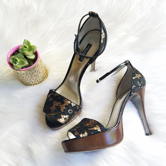 abeb8945585 Dolce   Gabbana Shoes - Dolce Gabbana Lace Peep Toe Pumps